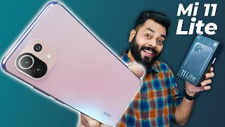 Mi 11 Lite Unboxing amp First Impressions Lite amp Loaded 6 81mm Thin 90Hz AMOLED 64MP amp More