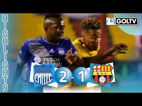 Emelec 2 - 1 Barcelona SC | GOLES | Liga Pro Ecuador