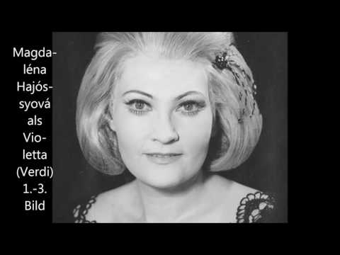 "Magdaléna Hajóssyová singt die Violetta (1./2. Akt) in ""La Traviata"" (dt.)"