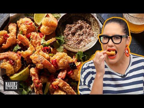 The CRISPIEST Sichuan Salt & Pepper Shrimp   Marion's Kitchen