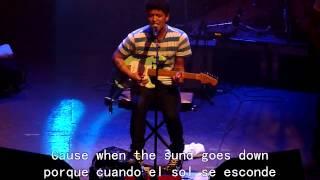 Bruno Mars - Talking To The Moon.sub ingles español en vivo