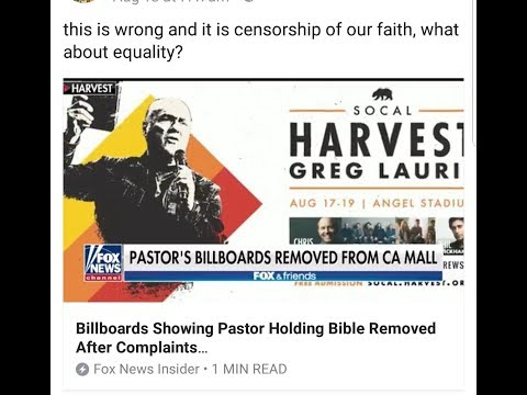 WARNING! Bible Billboard Removed In California Alex Jones Banned?