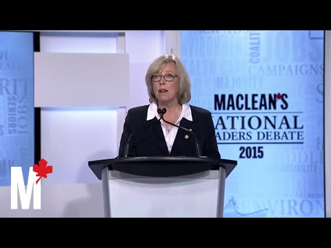 Elizabeth May's closing statement: Maclean's debate