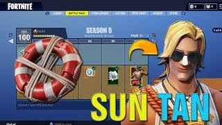 "Fortnite How To Get FREE ""SUN TAN SPECIALIST"" Skin In Fortnite! Nouveau"" Lifeguard Skin Gameplay LIVE!"