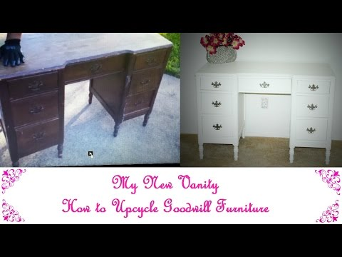 My New Vanity | How to Upcycle Goodwill Furniture