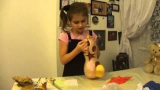 Как сделать домик из тыквы