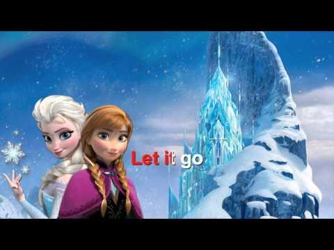 Frozen - Let it go - Karaoke con testo / with lyrics