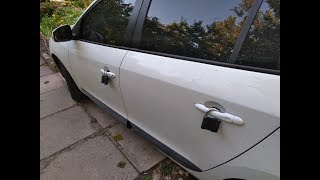 Спалился на камеру как цепляет замки / the attacker clings the lock on the car