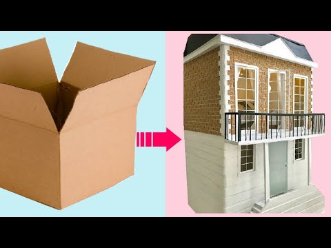 4  Modern DIY Miniature Houses made with recycled cardboard
