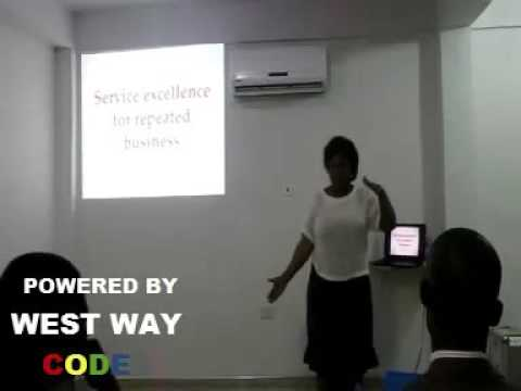 Mrs Rita Krampah on Service Excellence for repeat Business @