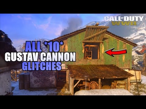 "COD WW2 - ALL *10* WORKING GLITCHES ON ""GUSTAV CANNON"" (After Patch) 