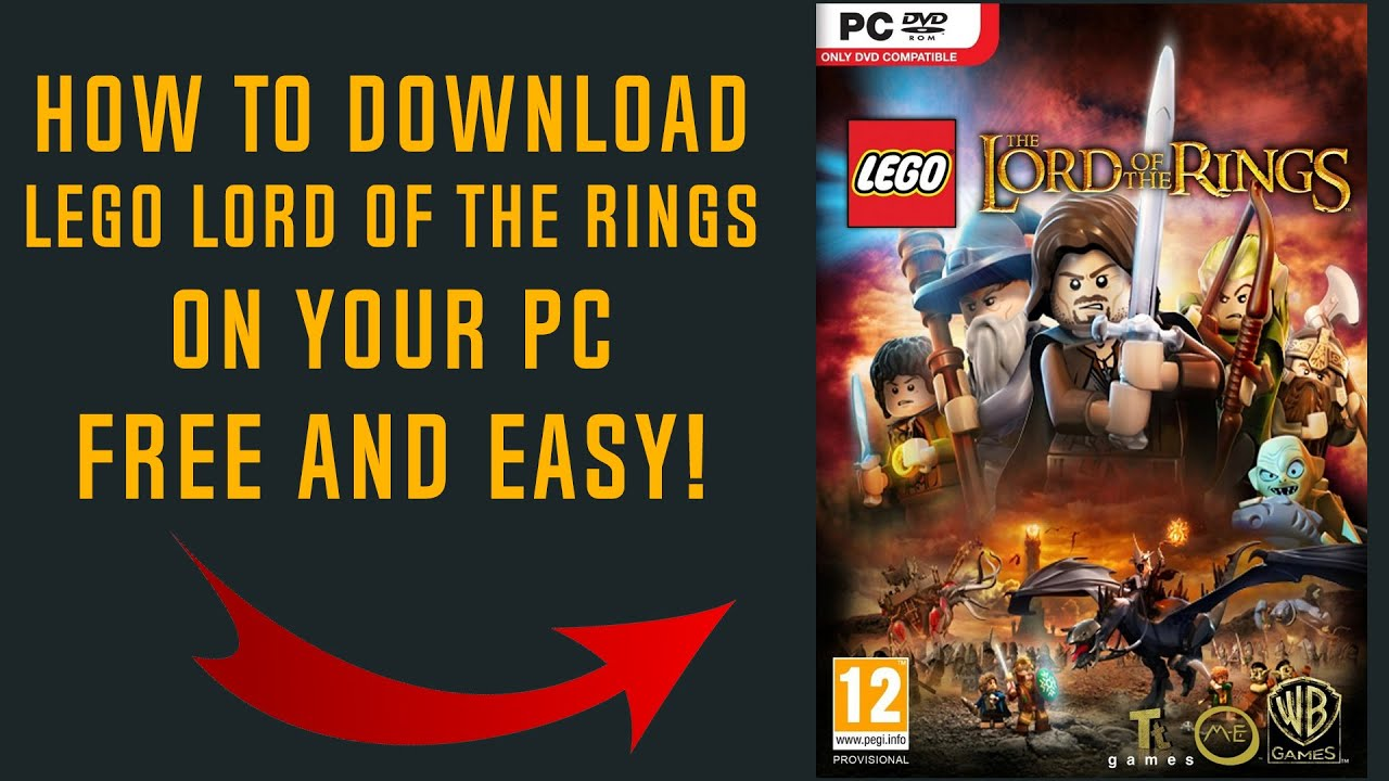 How To Download Lego Lord Of The Rings Free On Your Pc Youtube