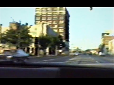 Ride Through Downtown Erie, PA In 1988 From 12th & Peach To Parking Ramp