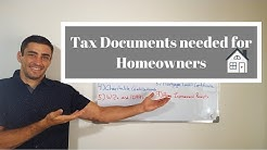 Tax Documents needed for Homeowners