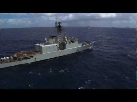 Royal Canadian Navy Ships and Submarine in RIMPAC 2012
