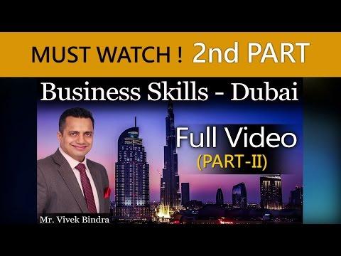 Business Skills Training Video By Vivek Bindra at Dubai in English