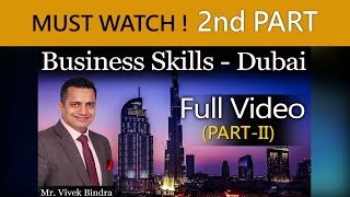 Business Skills Training Video By Vivek Bindra at Dubai in English