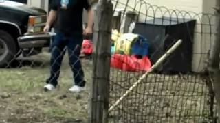 ★NEIGHBOR FROM HELL!★ RACIST REDNECK NEIGHBOR ARGUES ACROSS FENCE★ VIDEO