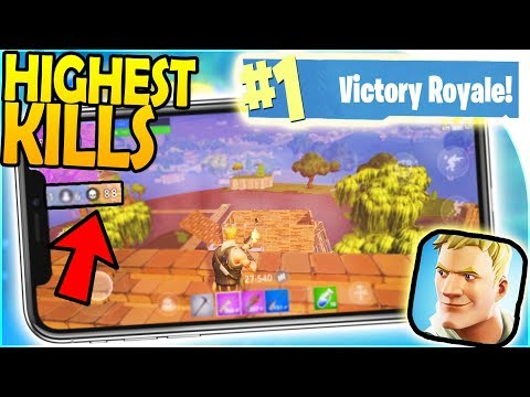 FORTNITE MOBILE HIGHEST KILLS... AND THE WIN?! - Mobile Fort