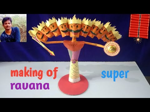 Making narakasura, making ravana for dussehra at home easy, how to making ravana with paper at home