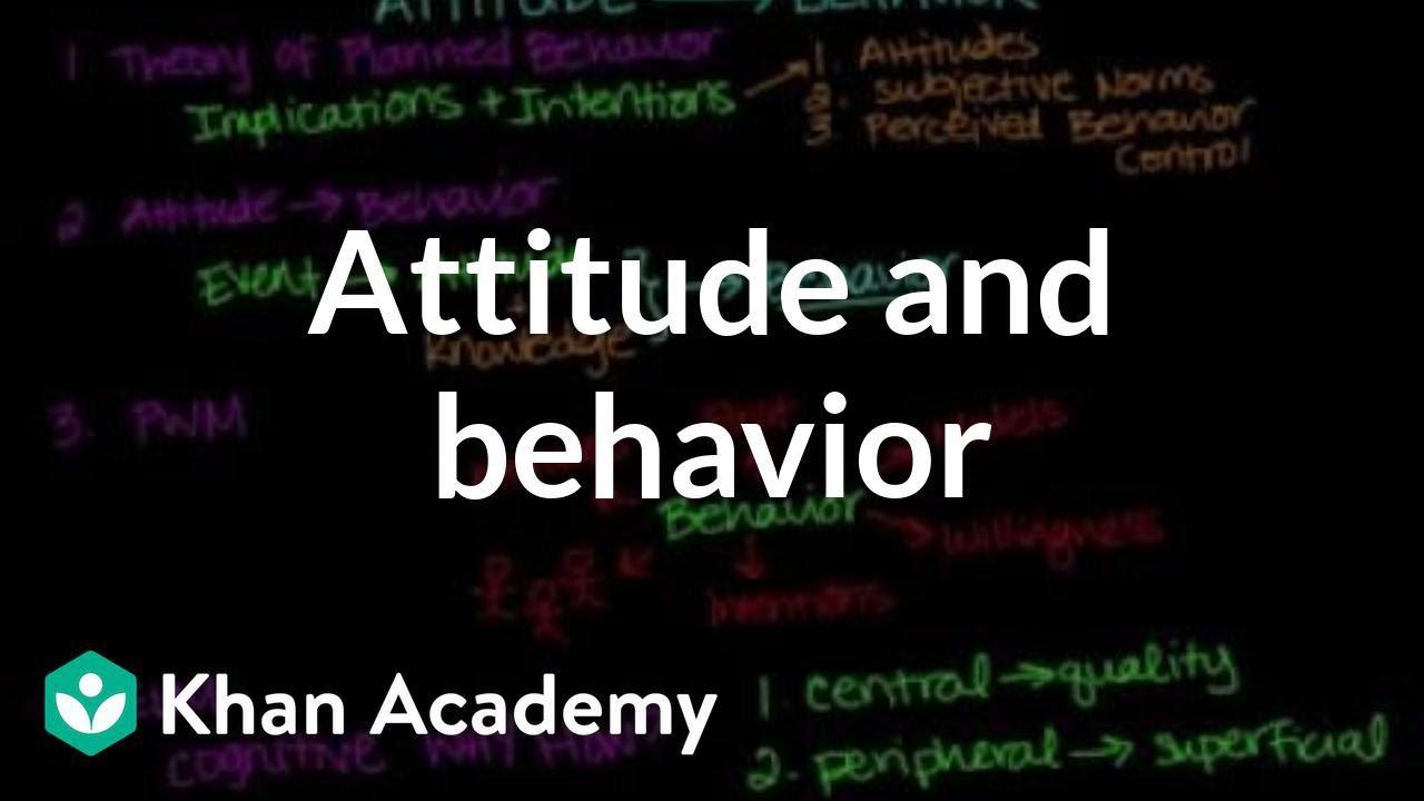 4f9808511 Attitude influences behavior (video) | Khan Academy