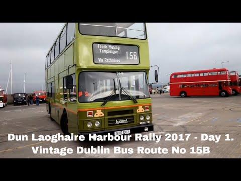 Vintage Dublin Bus Route No 15B.