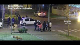 Padre e hija se accidentaron y fueron asistidos por el Sistema de Protección Ciudadana de Tigre
