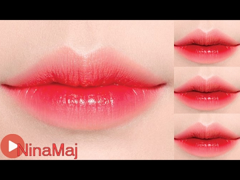 หัดแต่งหน้า - How To Gradient Lips - YouTube