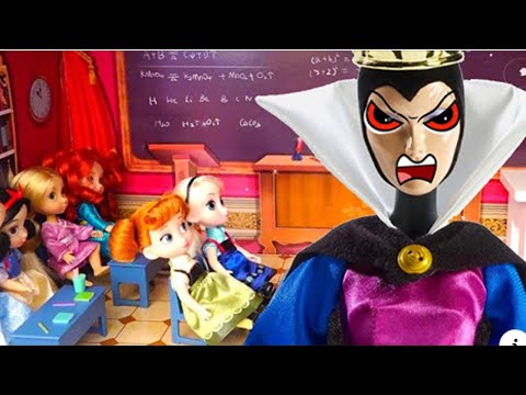 Thumbnail: The Evil Queen Disguises Herself as a Teacher to Bully Snow White - Stories With Toys & Dolls