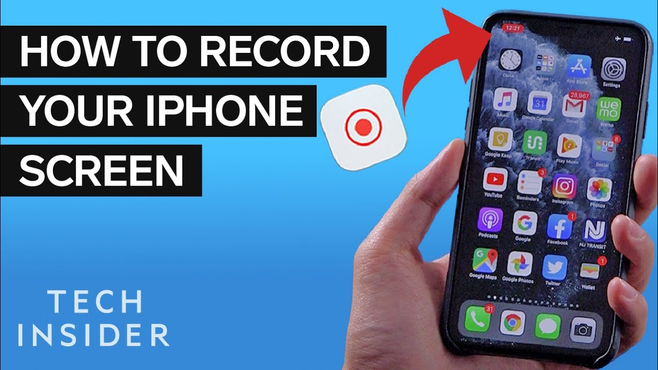 How To Record Your Iphone Screen Youtube