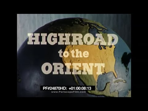 NORTHWEST ORIENT AIRLINES 1950s ASIA TRAVELOGUE High Road to the Orient 24870 HD