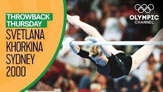 Gold for Svetlana Khorkina! - Uneven Bars in Sydney 2000   Throwback Thursday