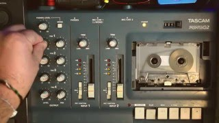 TASCAM 4 TRACK CASSETTE RECORDER - AMBIENT TAPE LOOP DRONE IN E