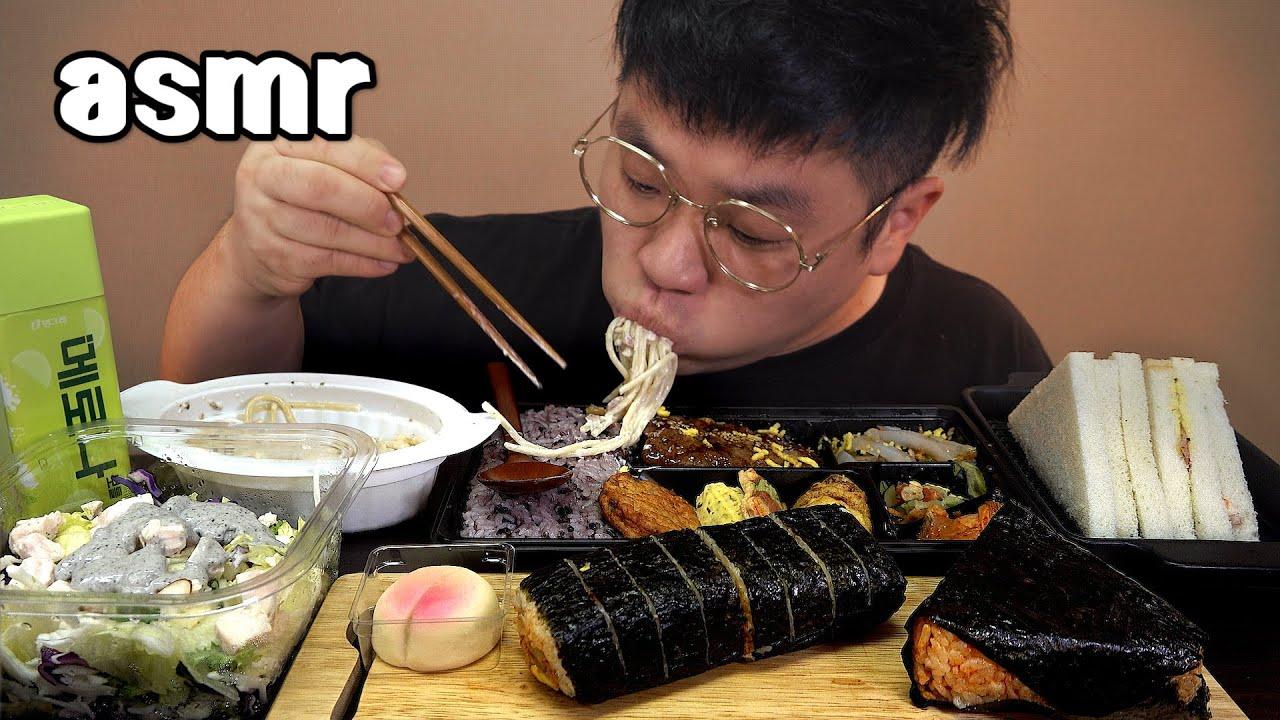 먹방창배tv 집에서 밥해먹기 귀찮을때 딱인 편의점음식 맛사운드 레전드 Convenience store food mukbang Legend koreanfood asmr