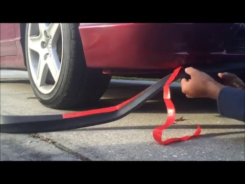 How To Install Universal Front Lip Youtube