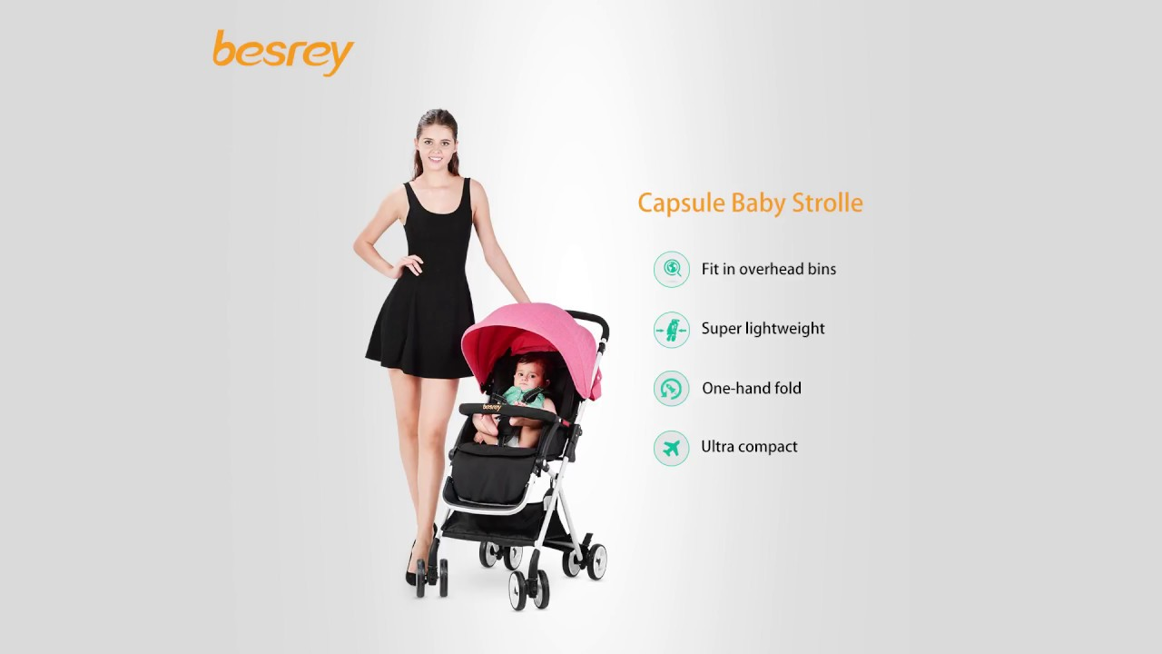 besrey for boarding capsule baby stroller easy to fold compact