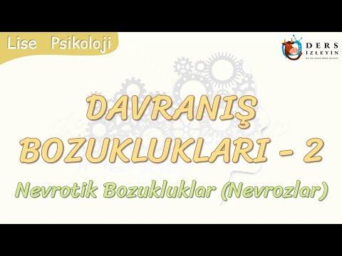 DAVRANIŞ BOZUKLUKLARI - 2 / NEVROTİK BOZUKLUKLAR