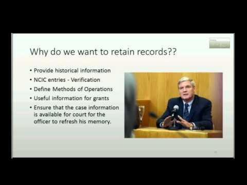 Records Management Law Enforcement by John Laursen