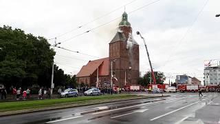 Pożar katedry w Gorzowie Wielkopolskim (01.07.2017) 1