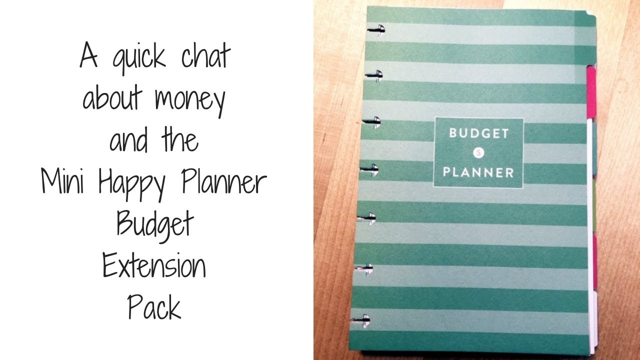 A quick chat about money & the Happy Planner Budget