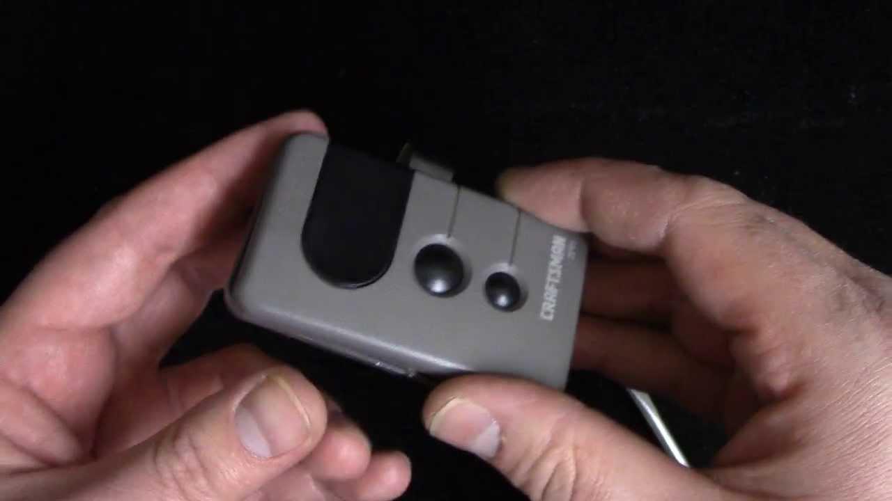 How to change the battery in a garage door opener remote