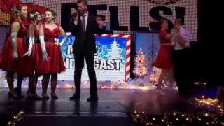 """Mike Prendergast and the Cherry Blossoms sing """"Jingle Bells"""" at Tease the Season Burlesque Show"""