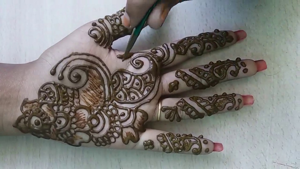 front side easy mehndi design