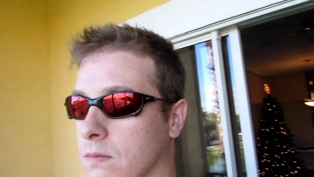 Oakley Juliet Carbon Frame Ruby Quartz Cyclops Lens Youtube
