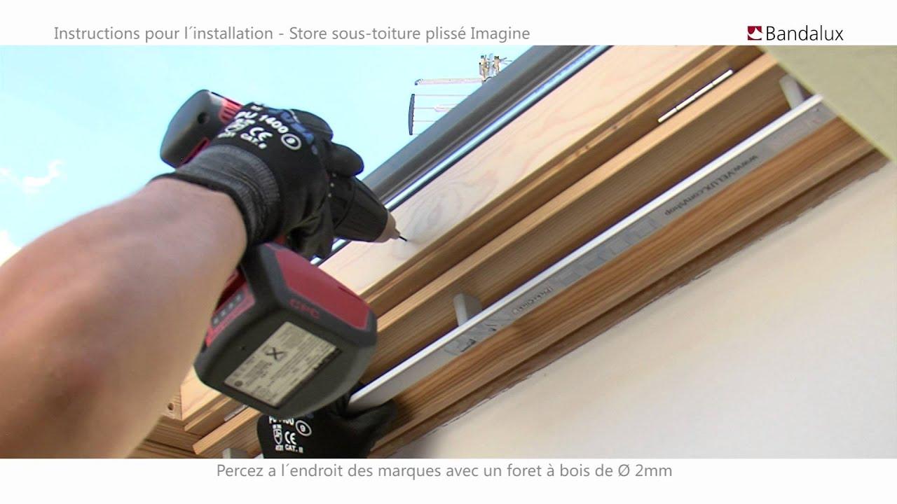Tringle A Rideau Pour Sous Pente bandalux | vidéo installation store sous-toiture plissé imagine
