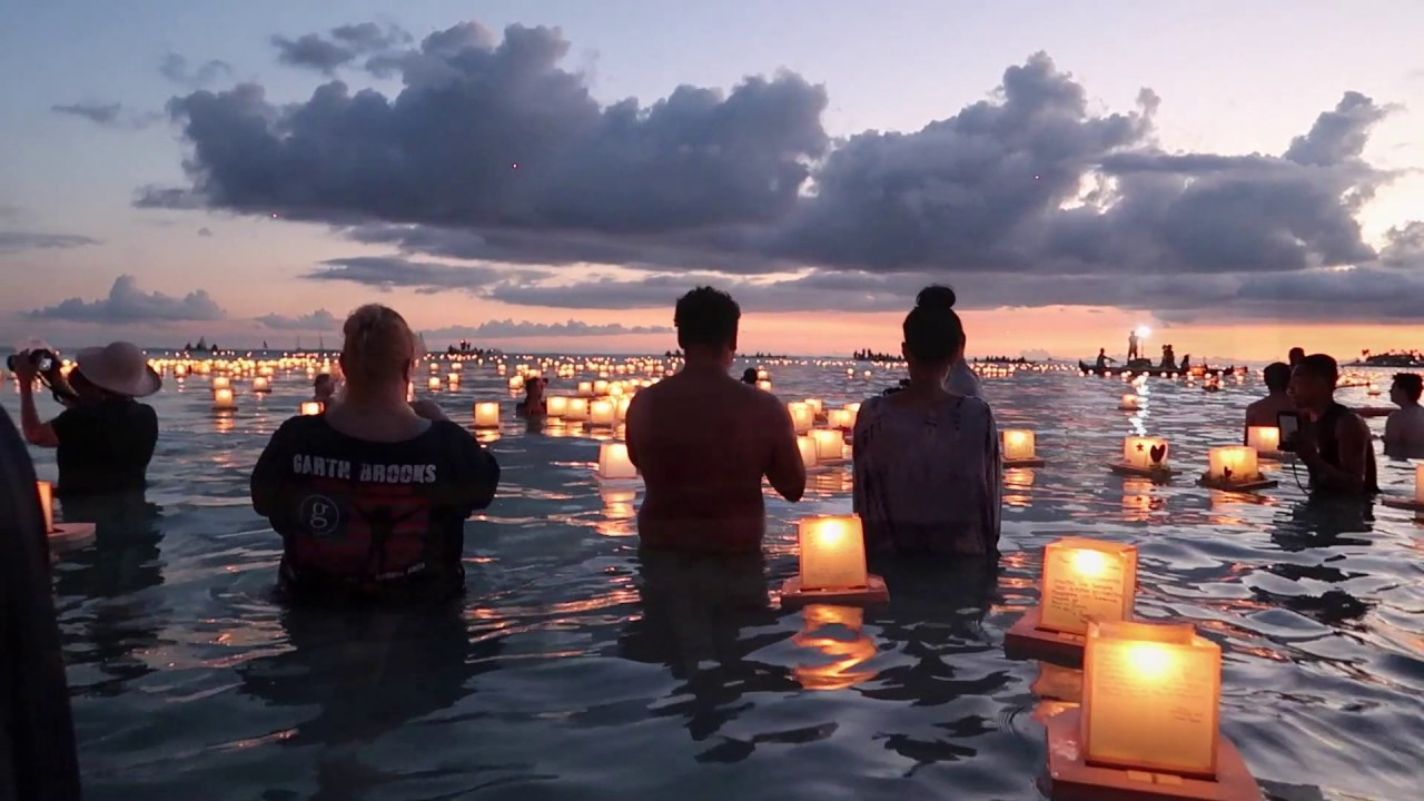 lantern floating hawaii 2017 youtube