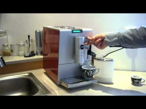 jura ena 7 p prava cappuccino youtube. Black Bedroom Furniture Sets. Home Design Ideas