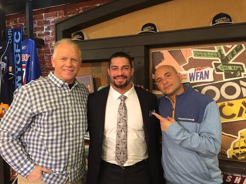 Boomer And Carton Interview WWE Star Roman Reigns 3-20-2017