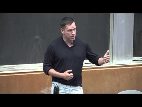 e@nu Speaker Series with Peter Thiel: Developing The Developed World