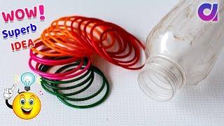 DIY: Best out of waste old bangles & Plastic bottle/cool craft idea/ plastic bottle reuse | Artkala